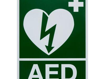 STICKER AED (150 X 200 MM)